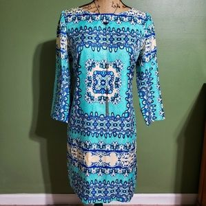 {The Limited} Blue Paisley Dress